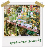 green tea snacks
