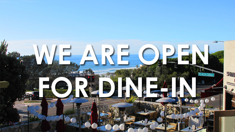 We are open for dine-in