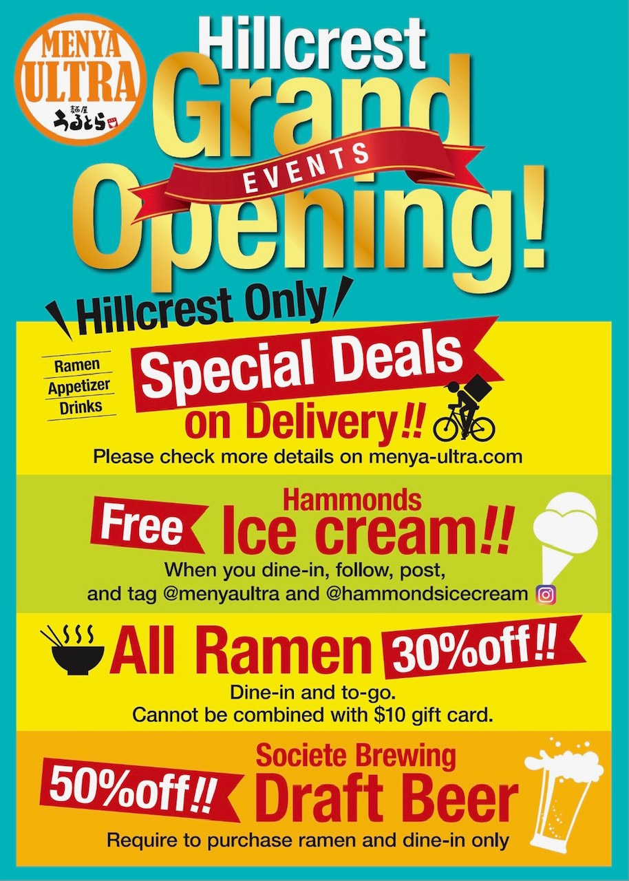 Hillcrest Grand Opening Events!
