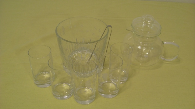 サンディエゴタウン クラシファイド クリスタルグラスと氷入れ,ガラスティーポット