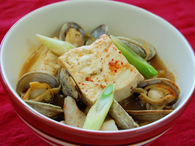 豆腐のチゲ風さっと煮