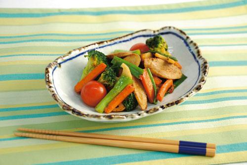 いろいろ野菜の中華風炒め