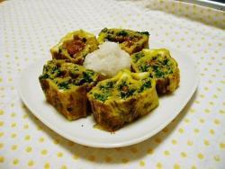 モロヘイヤ&納豆入り卵焼き
