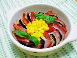 ナス&トマトはさみ焼き