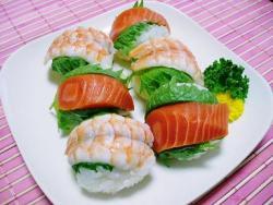 チーズ入り簡単手まり寿司