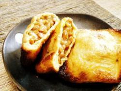 かんたん♪納豆で油揚げのカリカリ焼き