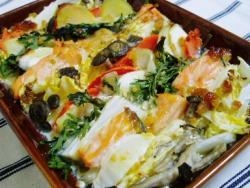 鍋野菜&鮭サンド焼き